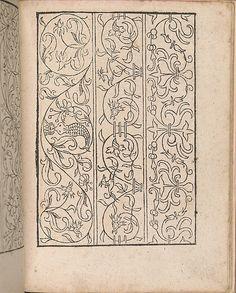 New Modelbüch allen Nägerin u. Sydenstickern (Page 20r).  Hans Hoffmann.  1556.