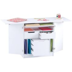 The Recollections™ Deluxe Craft Table is your dream storage piece! With a collapsible table top for added workspace, the full working area extends to x 1 and includes multiple drawers and. Bead Storage, Smart Storage, Cupboard Storage, Scrapbook Organization, Studio Organization, Space Crafts, Fun Crafts, Counter Height Table, Scrapbooking