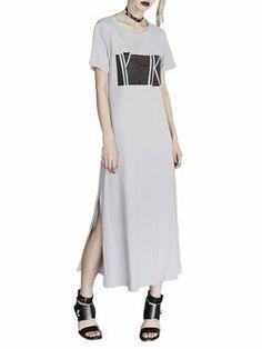 Black Statement H-line Midi Dress