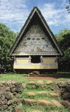 Traditional Bai, or meetinghouse, in Palau