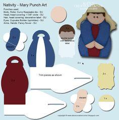 Alex's Creative Corner: Nativity Punch art - Manger