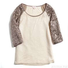 Stitch Fix Kirsten Sequin Raglan Tee