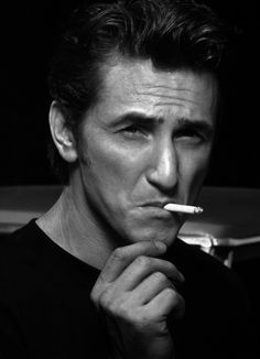 Sean Penn, Details, Malibu, 1995 by Albert Watson. Sean Penn, you are king. Thank You For Smoking, Beautiful Men, Beautiful People, Don Corleone, People Smoking, Men Smoking, Looks Black, Best Actor, Famous Faces