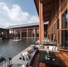 Image 9 of 36 from gallery of Folk Culture Center / Lacime Architects. Photograph by Qianxi Zhang Tropical Architecture, Chinese Architecture, Sustainable Architecture, Residential Architecture, Contemporary Architecture, Architecture Details, Landscape Architecture, Ancient Architecture, Facade Design