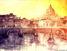 Wordly Architectual Watercolors - Maja Wrońska's Watercolor Cityscape Art Puts You in a Dreamy (GALLERY)