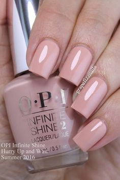 opi infinite shine Hurry Up and Wait is a tan cream that leaned very pink on me. Nail Design, Nail Art, Nail Salon, Irvine, Newport Beach