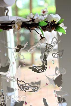 Sweet DIY Butterfly Mobile