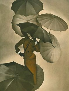 """Umbrellas - photo by George Hoyningen-Huene [1950]"" What a great photograph, love it. S."