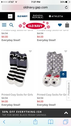 Cozy Socks, Old Navy, Girly, Banana, Prints, Christmas, Fashion, Women's, Xmas