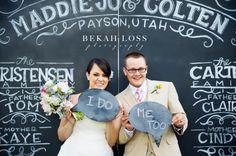 My cousins cute wedding backdrop! Love it!