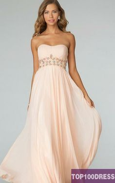 Baby pink prom dress. Great for darker skin tones