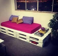 Resultado de imagen de łóżko z palet zszywka
