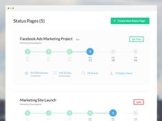 "This is the projects view, or the projects ""Dashboard"" if you will for ProjectPulse. The page shows rows of projects and a timeline showing the stage of completion of each project. Clicking on the ..."