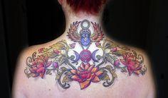 Vegan tattoo , vegan ink, dark skin tattoo, dot work tattoo, los angeles tattooer, black and grey tattoo, color tattoo, scarab, beetle , lotus ,drop shadow