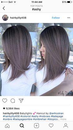 Pin by Isabel on Hair and beauty in 2019 Medium Hair Styles, Short Hair Styles, Long Bob Haircuts, Long Bob Hairstyles For Thick Hair, Hair Color And Cut, Hair Highlights, Balayage Hair, Gorgeous Hair, Hair Looks