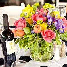 Colorful Floral Centerpieces