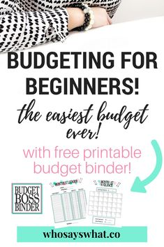 How to make a budget binder with free printable budget boss binder!  Learn how to take control of your finances so you never miss another bill payment again with the 3-step budget system!  Once you have implemented this system, use our budget boss binder to organize and track your finances!  Get it today!