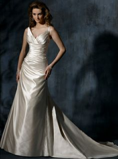 "Maggie Sottero ""Autumn"" in beautiful satin ... one only Size 18 available in Diamond White"