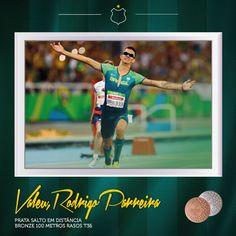 """""""Se 1 já não bastasse, o Rodrigo, filho de nossa cidade amada, traz pra casa 2 medalhas Paralímpicas do jogos #Rio2016.   Todos nós do UEC e a massa alviverde aplaudimos orgulhosos o seu feito. Parabéns!"""""""