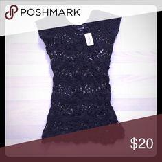 Forever 21 black crocheted dress/tunic Forever 21 Black crocheted dress/tunic Forever 21 Tops Tunics