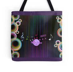 MoonDreams Music Abstract Color Tote Bag by #MoonDreamsMusic #ToteBag #AbstractColorDesign