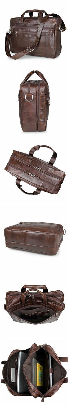 100% genuine leather briefcase bag