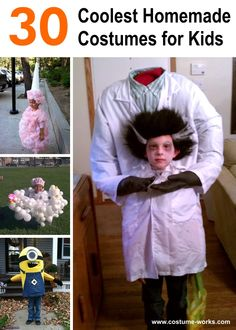 Best Halloween Costume ever? The Mad Scientist Who Lost His Head, awesome Halloween costume! Homemade Costumes For Kids, Diy Halloween Costumes For Kids, Halloween Costume Contest, Halloween Crafts, Halloween Decorations, Costume Ideas, Creative Costumes, Halloween Costume Holding Head, Kid Costumes
