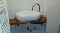Nischen Waschbecken, Naturholztischplatte, Keramik Aufsatzwaschbecken Sink, Home Decor, Projects, Timber Wood, Sink Tops, Vessel Sink, Decoration Home, Room Decor, Vanity Basin