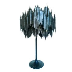 Brutalist Table Lamp | Chairish Brutalist Design, Home Goods Store, Vintage Lamps, Metallic Paint, Design Firms, Home Lighting, Store Design, Man Cave, Table Lamp