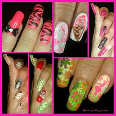 Hello lovelies! Here's a collage of some of my fave nails for #clairestelle8july challenge!! Hope you like them too!   #monthlymanifavourites #chinaglaze #cgclique #badgirlfeatures #neon #gradient #nails #notd #nailpromote #stamping #mundodeunas #bundlemonster #simplynotlogical #nails #notd #modelsown #modelsownit #colorclub #nailitdaily #craftyfingers #simplynotlogical #blog #bblogger #esmalte #unas #nagellack #ongles