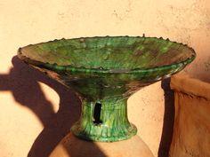 Bowl; Buddha, Ceramics, Bird, Stone, Outdoor Decor, Green, Home Decor, Terracotta, Ceramica