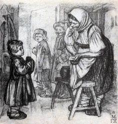 Pahomov illustrazione, racconto di Lev Tolstoj