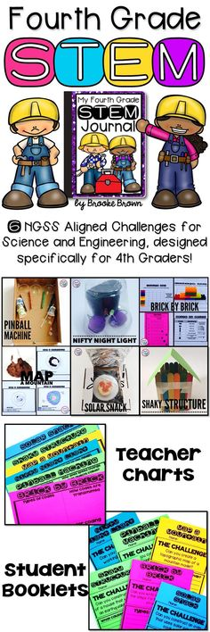 6 NGSS Aligned STEM Challenges designed specifically for fourth graders! Correlates with both Science and Engineering standards