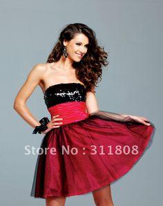 vestidos de fiestas de 15 rojo y negro color rojo y negro vestido