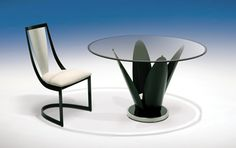 Tulip table with the Lana chair! Can't wait to get this some day!