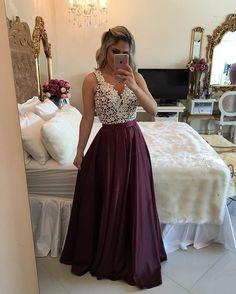 Lace Prom Dress,Satin Prom Dress,V Neck Prom Dress,Sexy Party Dress, New Style Evening Dress Floral Prom Dresses, A Line Prom Dresses, Dance Dresses, Pretty Dresses, Sexy Dresses, Beautiful Dresses, Formal Dresses, Evening Dresses, Prom Gowns