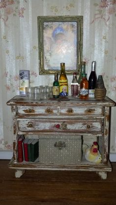 Liquor Cabinet and Accessories full scale 1:12 by FabulousRefurbs