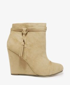 Tasseled Wedge Booties #30percentoff #bootup!