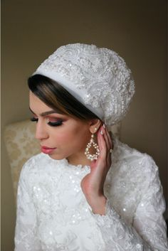 Wedding Veil, Wedding Day, Wedding Dresses, Party Dresses, Bridal Hijab Styles, Hijab Turban Style, Couture Bridal, Polyester Satin, Neck Scarves