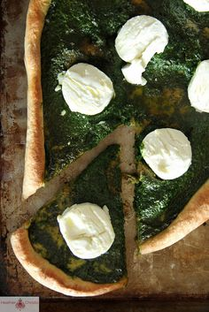 Kale Pesto and Goat Cheese Pizza