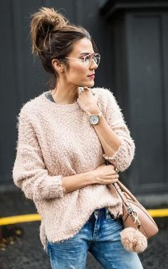 Ily Couture Blush Chunky Sweater (SHIPS 11/1)