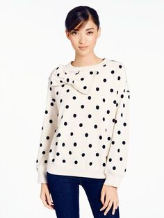 In love with this bow sweater from Kate Spade: Frineds and Family sale now through Oct 19th!