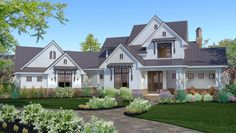 Elegant Farmhouse Living - 16853WG | Country, Farmhouse, Traditional, 1st Floor Master Suite, Bonus Room, Butler Walk-in Pantry, CAD Available, Den-Office-Library-Study, Multi Stairs to 2nd Floor, PDF | Architectural Designs