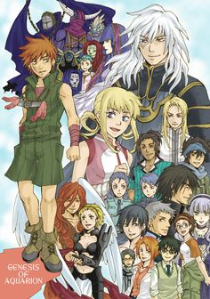 Genesis of Aquarion: amidst the themes of reincarnation and orgasmic moans from conjunction, I found that this anime was surprisingly a little too cliche for me. It just doesn't really appeal to me too much anymore when you have two characters who end up together because they have to be because their reincarnated selves say so... What ever happened to learning from the mistakes of the past.