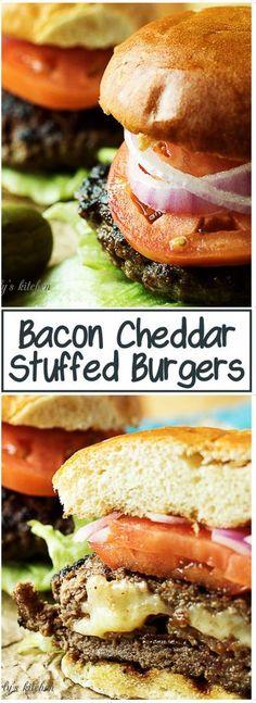 Bacon Cheddar Stuffed Burger