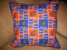 Pillow I made to match my Grandson,Cody's Gator quilt