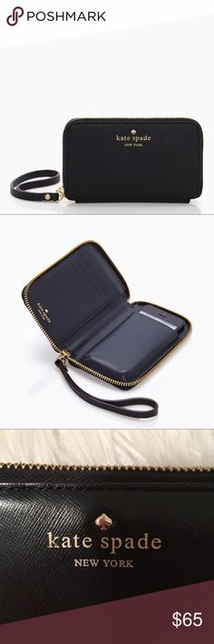 Black kate spade Wrislet brand new, in perfect condition! kate spade Bags Clutches & Wristlets