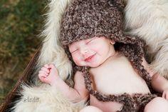 Smiley Newborn Baby Boy