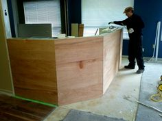 Service bar / cafe wood front panels up Basement Ideas, Bar, Cabinet, Storage, Wood, Furniture, Home Decor, Clothes Stand, Madeira