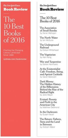 The January Red Box, mailing to stores this week, will include a packet of 25 bookmarks featuring The New York Times Book Review's picks for the 10 Best Books of 2016.